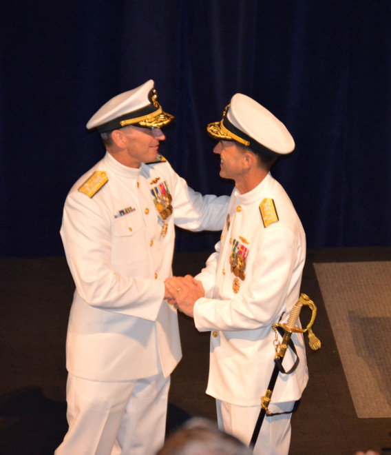 Richardson Becomes New Chief of Naval Operations; Greenert Retires After 40 Years