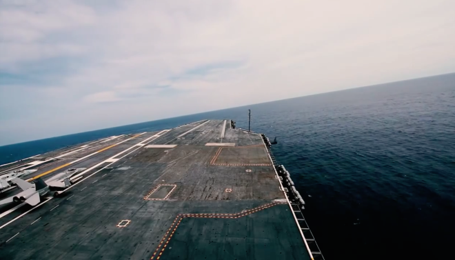 Video: Carrier USS Dwight D. Eisenhower Conducting High Speed Turns