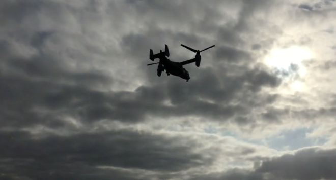Video: MV-22 Osprey Takes Off from USS Boxer