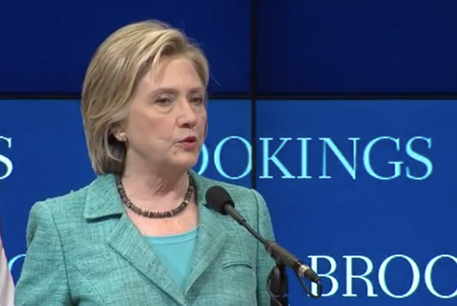 Clinton Speaks in Support of Iran Nuclear Deal, Across Town Republicans Don't