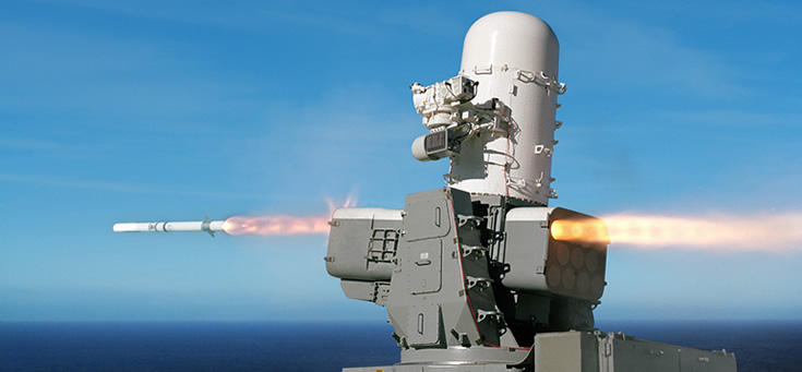 Undated photo of a SeaRAM. Raytheon Image