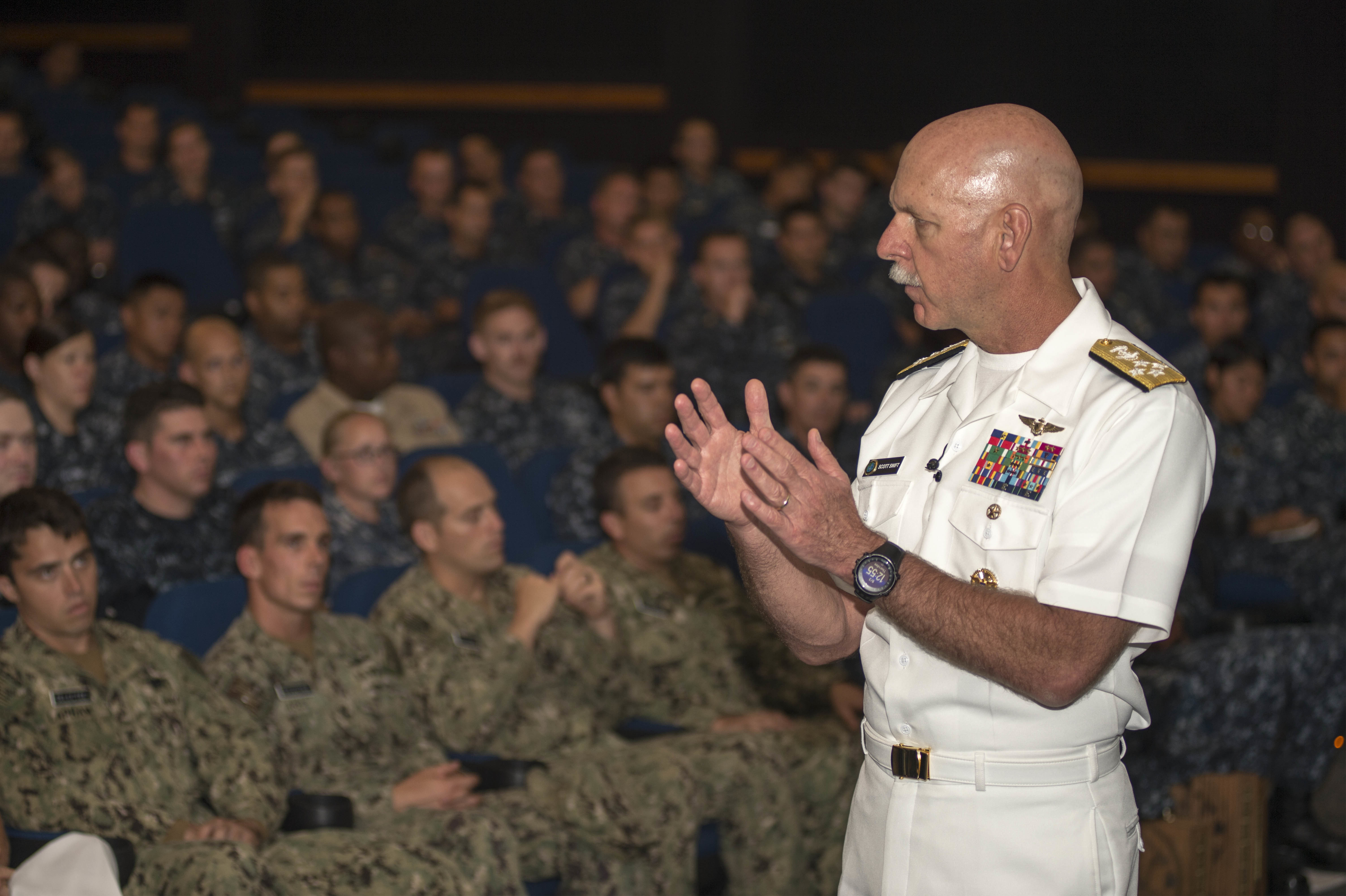 150903-N-YW024-057 PEARL HARBOR (Sept. 3, 2015) Adm. Scott Swift, commander of U.S. Pacific Fleet on Sept. 3, 2015. US Navy Photo