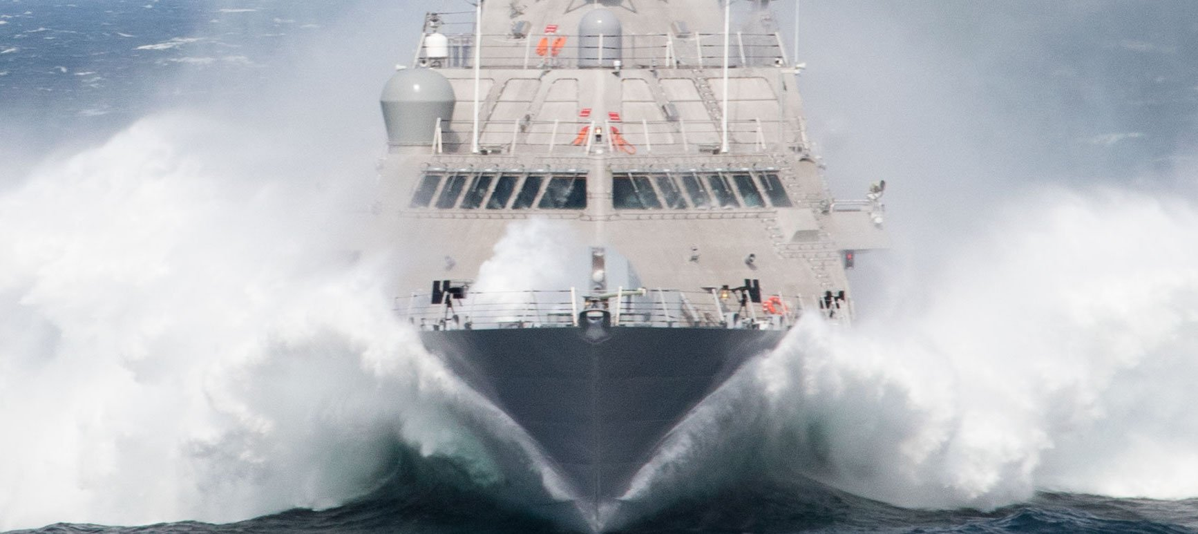 Freedom-class Milwaukee (LCS-5) during its September 2015 acceptance trials. US Navy Photo