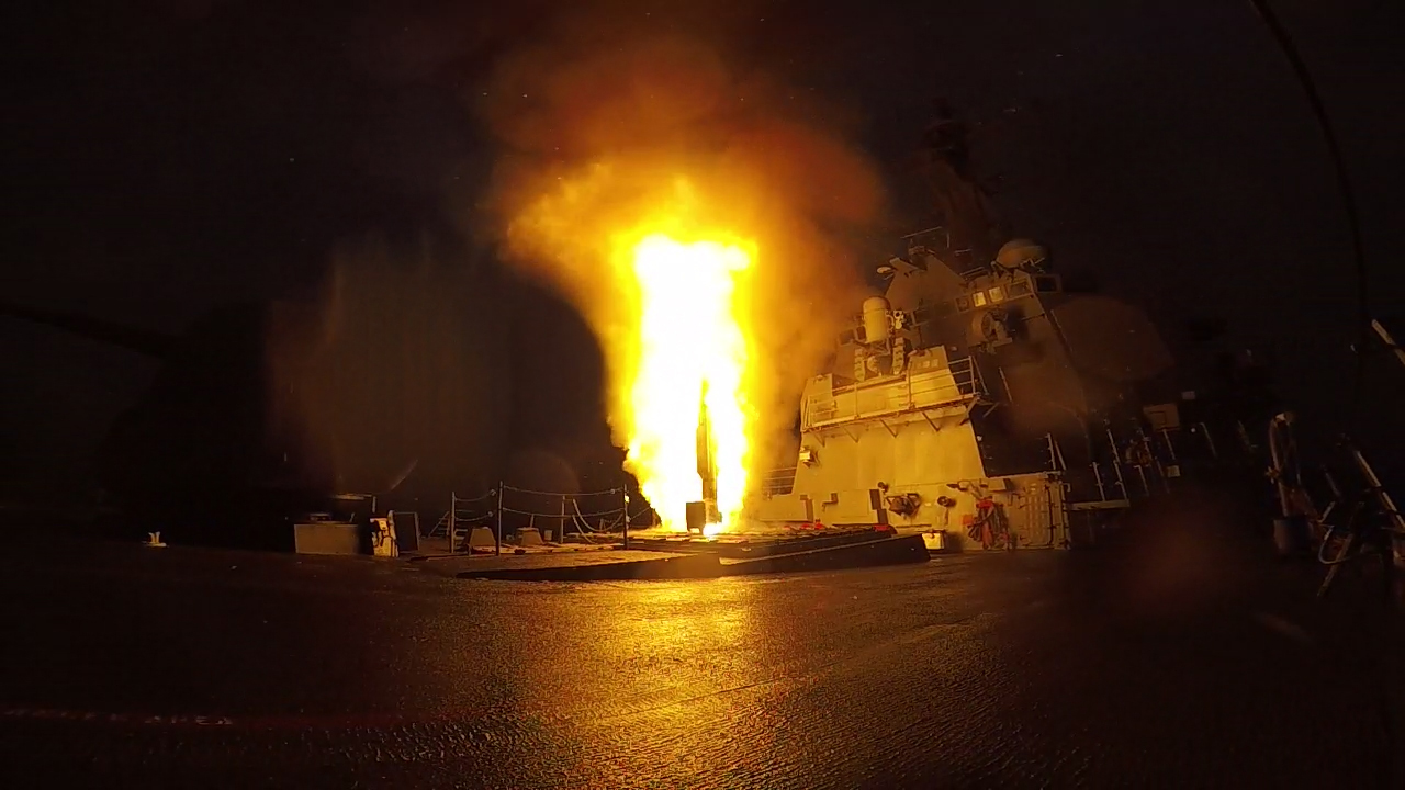 The Arleigh Burke-class guided-missile destroyer USS The Sullivans (DDG 68) fires a Standard Missile 2 (SM-2) during a live-fire test of the ship's Aegis weapons system Oct. 20, 2015. US Navy photo.