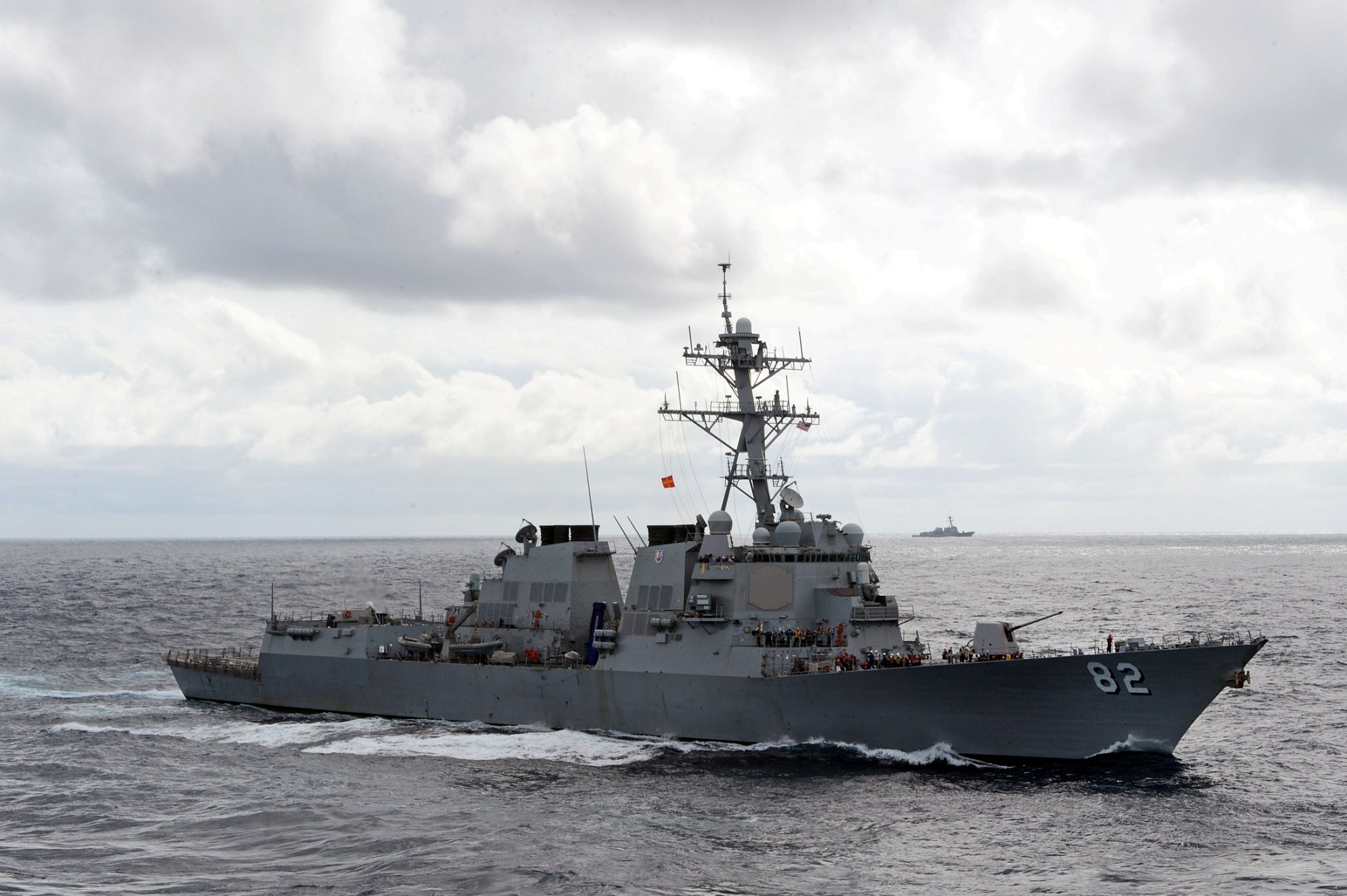 USS Lassen (DDG 82) is underway in 2013. US Navy Photo