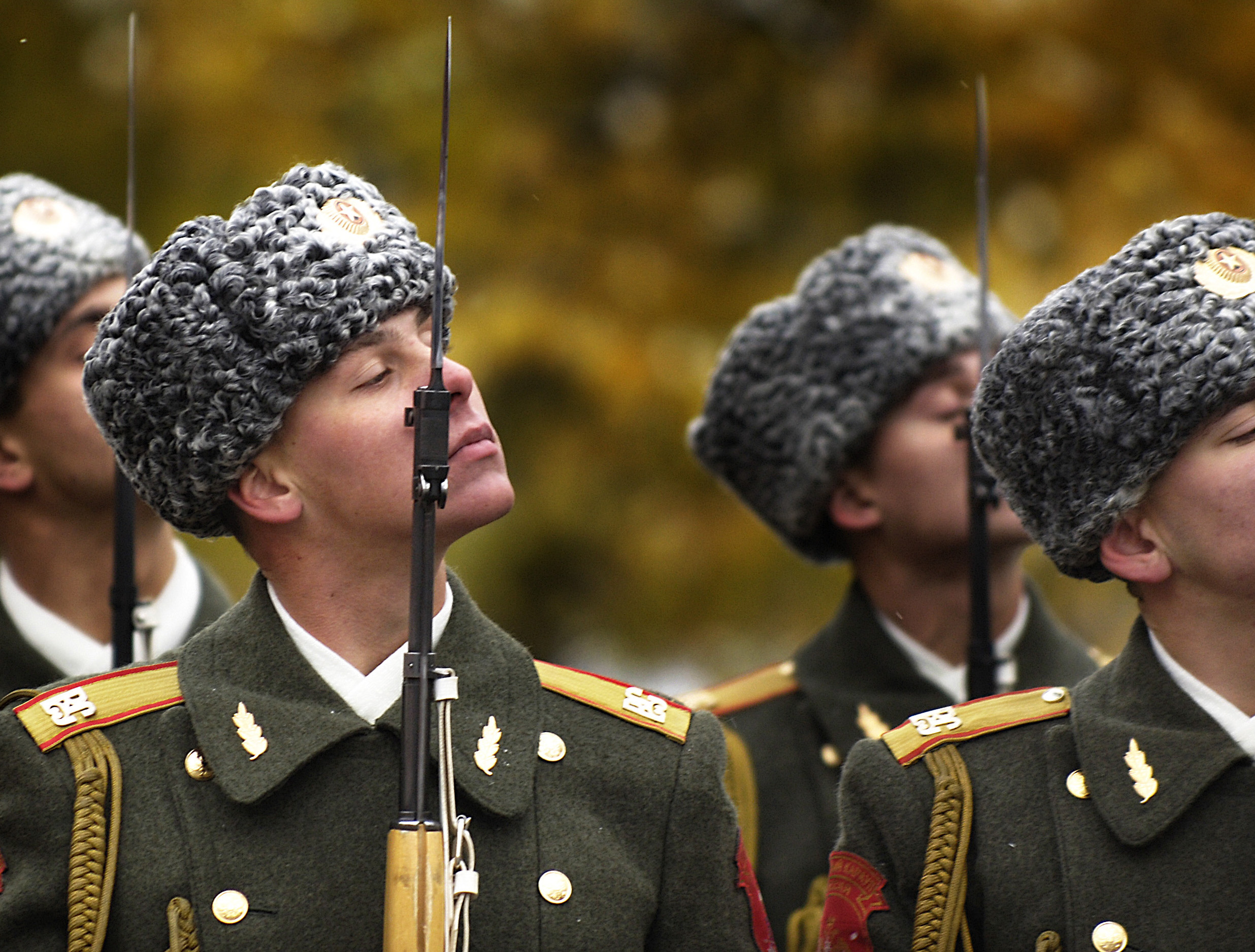 The Russian Honor Guard stand-by as part of a ceremony in 2006. U.S. DoD Photo