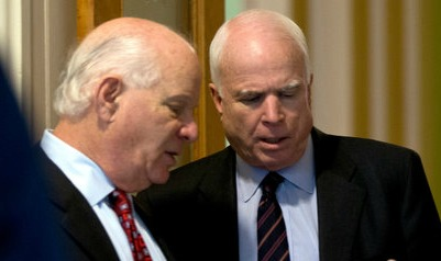 Senators Ben Cardin (D-Md.) and John McCain (R-Ariz.) AP Photo via The New York Times