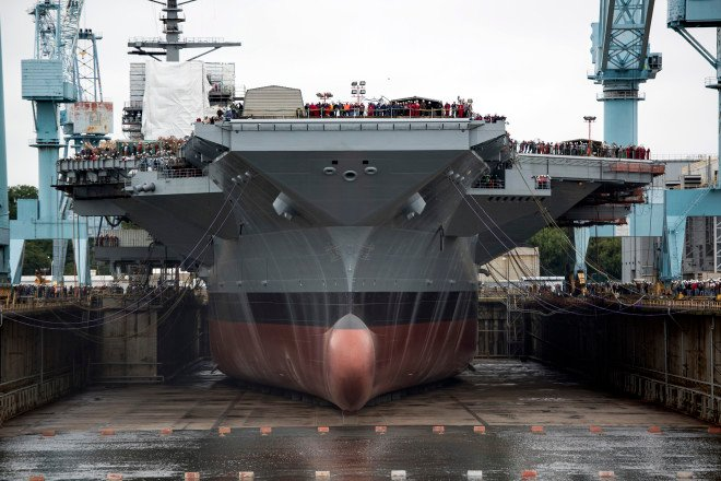 Navy to Update 2 Dry Docks to Accommodate Ford-Class Carriers