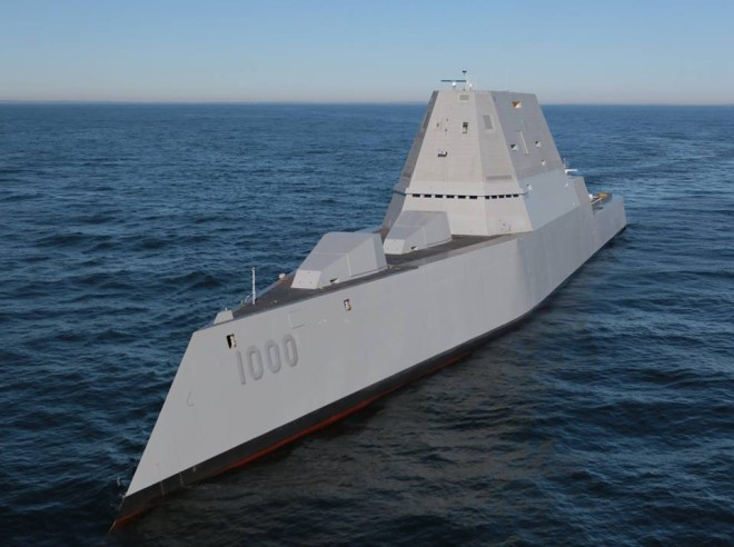 VIDEO: Zumwalt Destroyer Underway