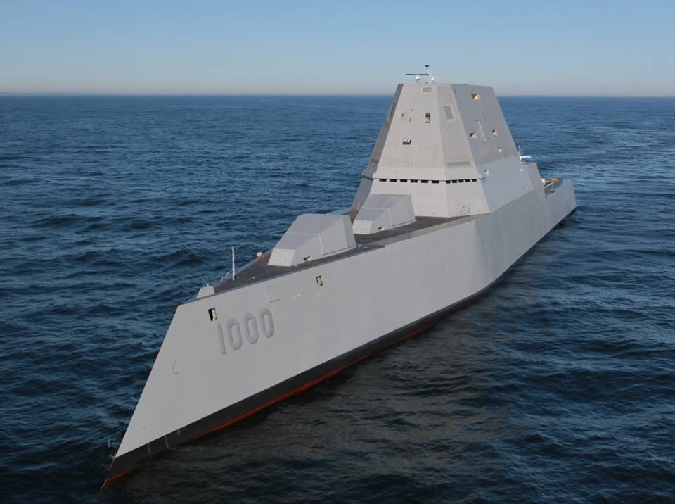Zumwalt on Dec. 7, 2015. US Navy Photo