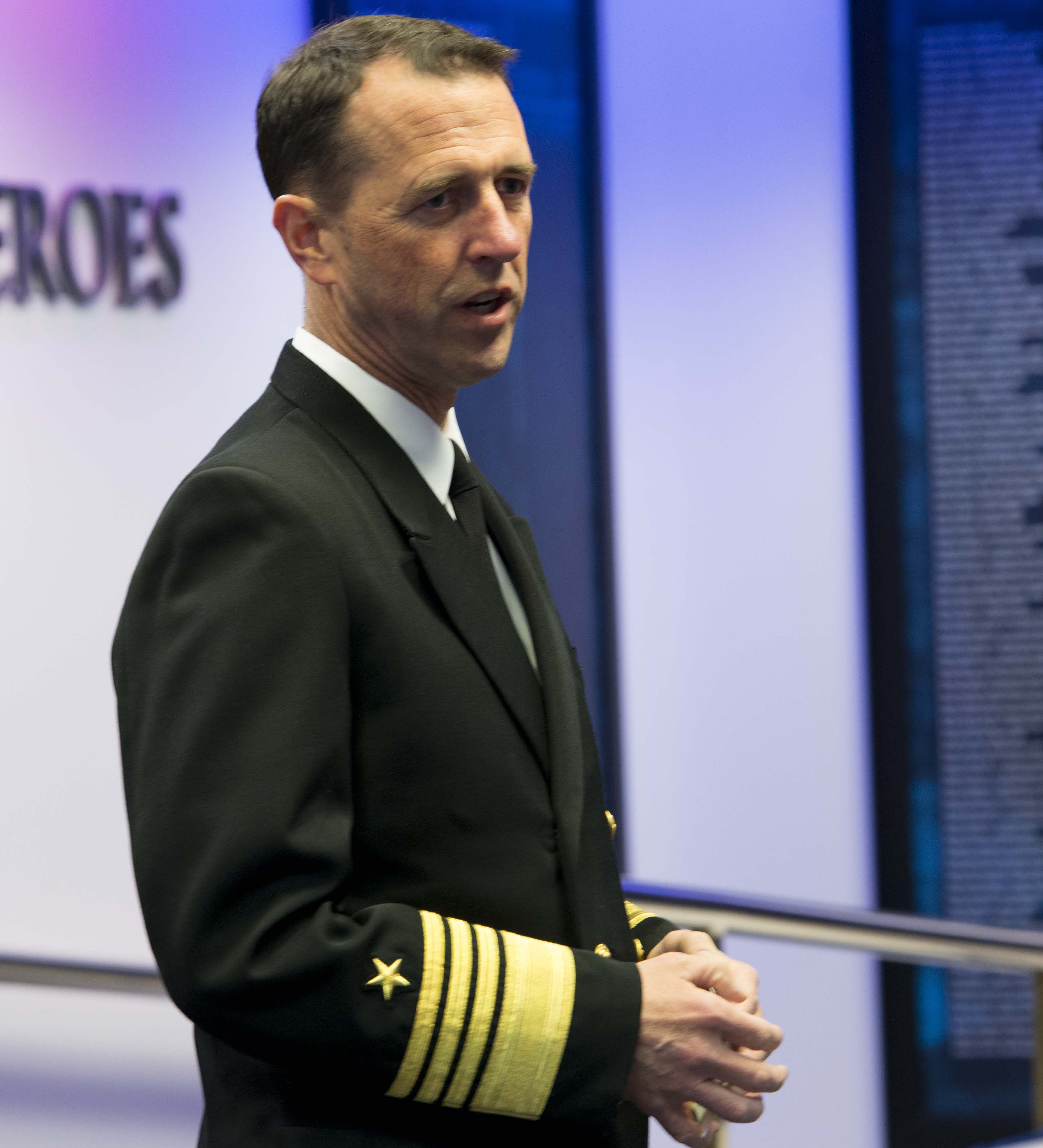Chief of Naval Operations (CNO) Adm. John Richardson on Nov. 10, 2015. US Navy Photo