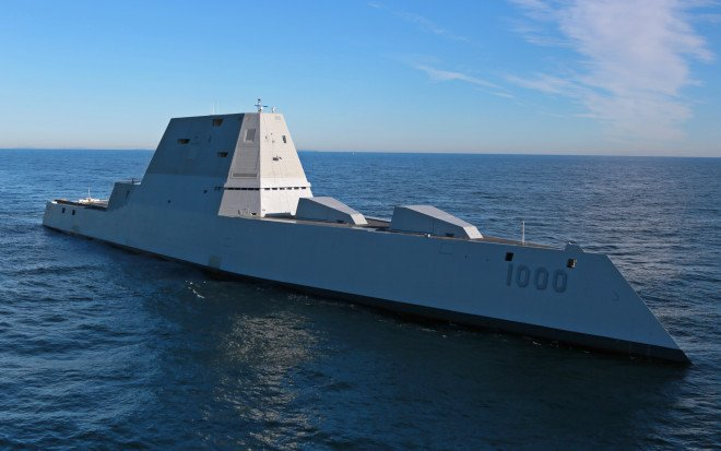 Zumwalt Destroyer Leaves Yard for First Set of Sea Trials