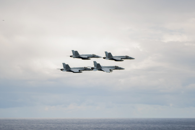 Truman Carrier Strike Group Enters U.S. 5th Fleet To Begin Anti-ISIS Operations