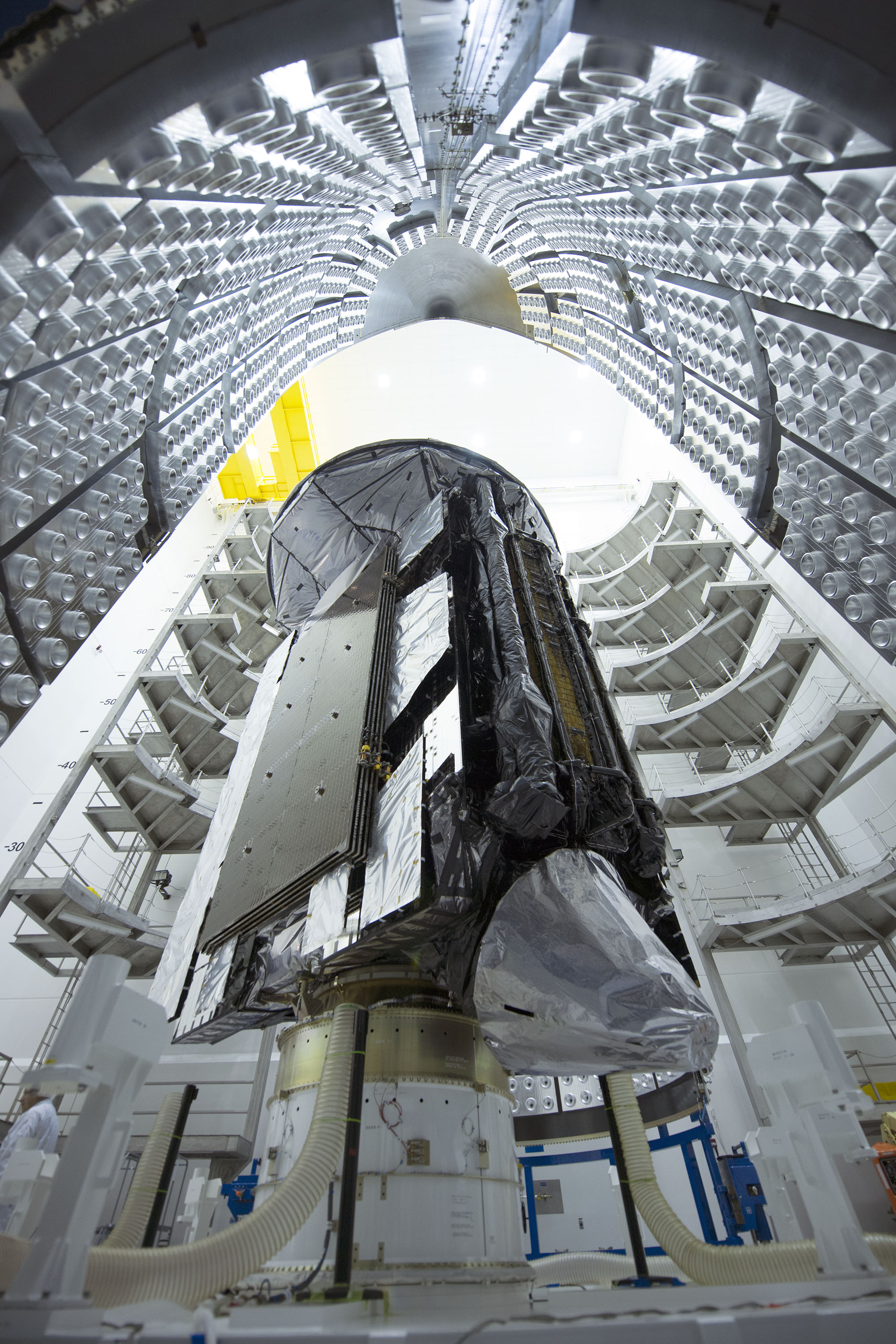 The MUOS-4 preparing to be launched in 2015. Lockheed Martin Photo