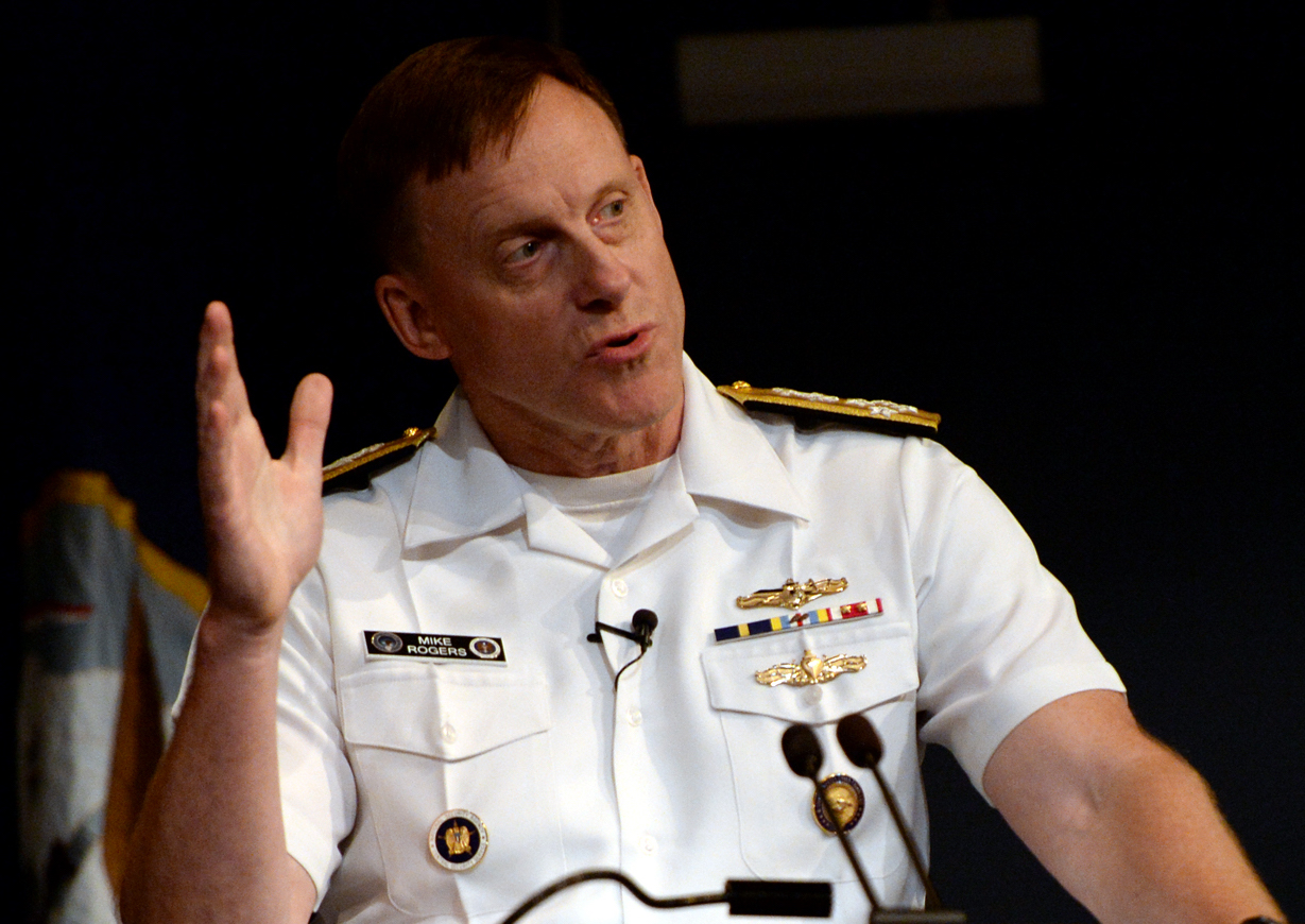 Adm. Michael S. Rogers, commander of U.S. Cyber Command, director, National Security Agency, chief, Central Security Service in 2015. US Navy Photo