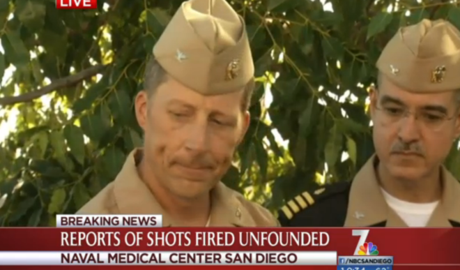 Naval Base San Diego CO: No Evidence of Gunshots, Injuries at Naval Medical Center San Diego