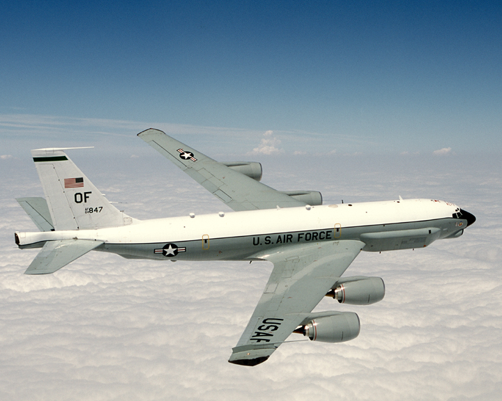 A U.S. Air Force Boeing RC-135U Combat Sent aircraft in 2004. US Air Force Photo