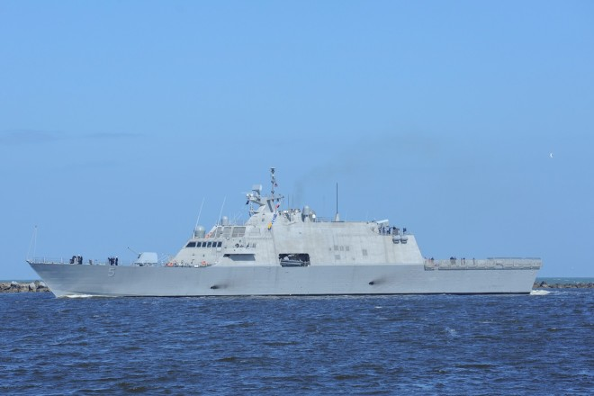 USS Milwaukee Arrives in BAE Systems Yard in Jacksonville
