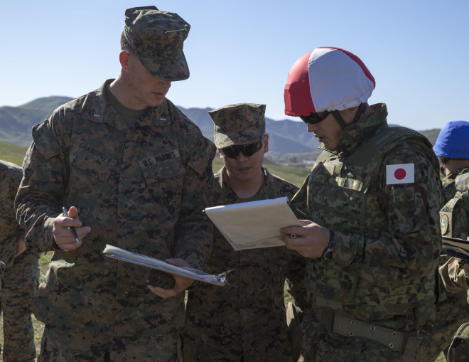 Iron Fist 2016: U.S. Marines Train Japanese Soldiers in the Finer Points of Sniping