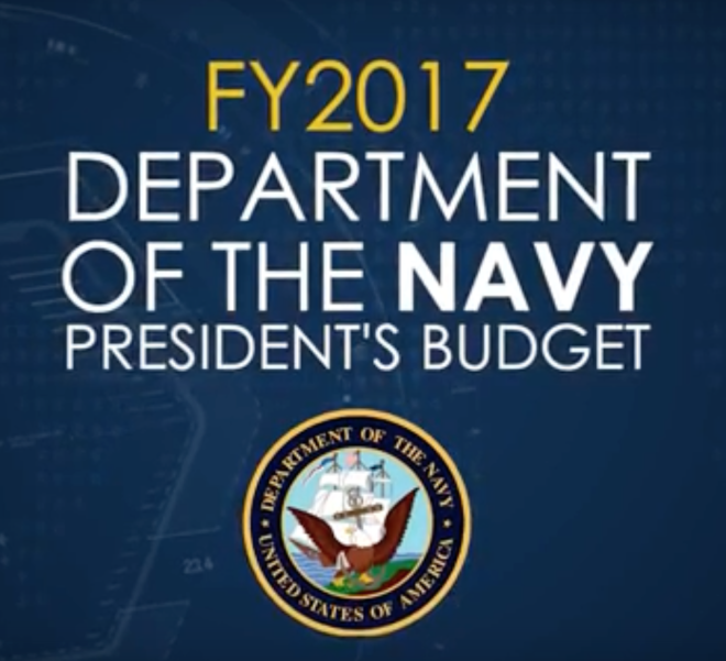Video: Fiscal Year 2017 Department of the Navy Budget Overview