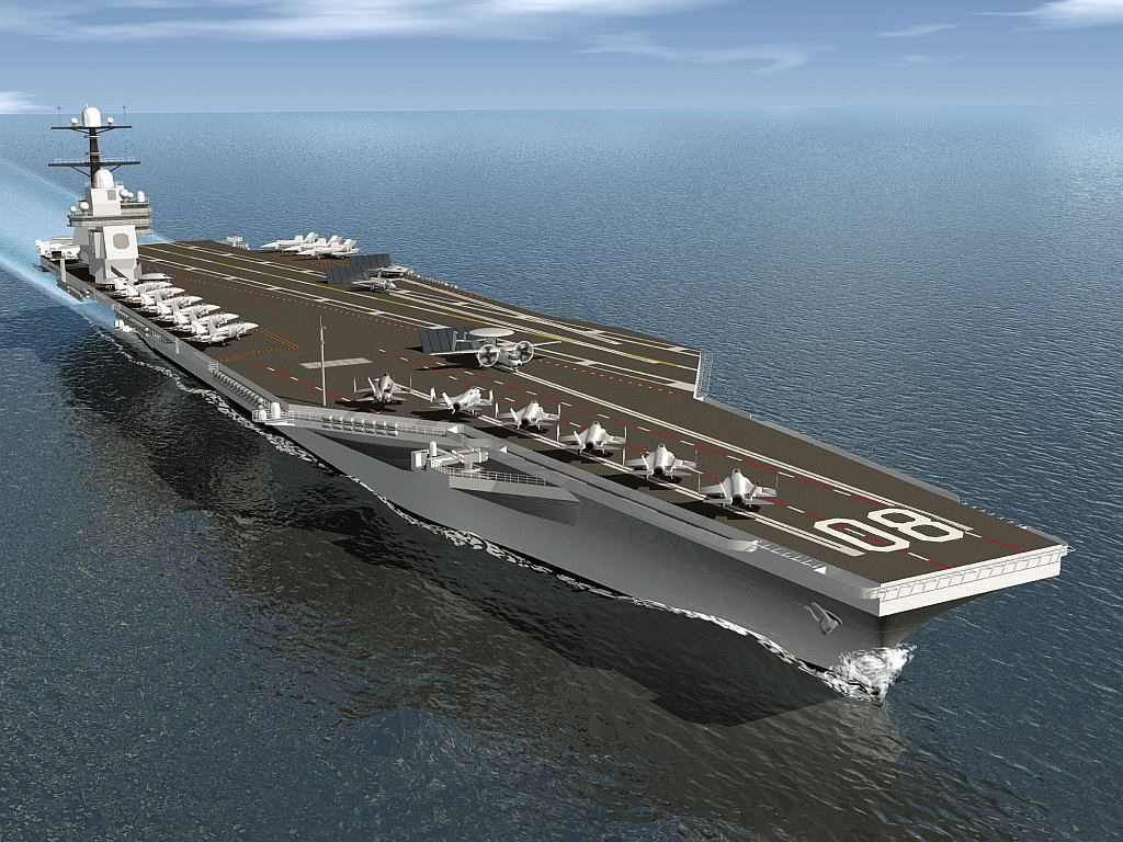 A 2013 artist's concept of the future carrier Enterprise (CVN-80). DoD Image