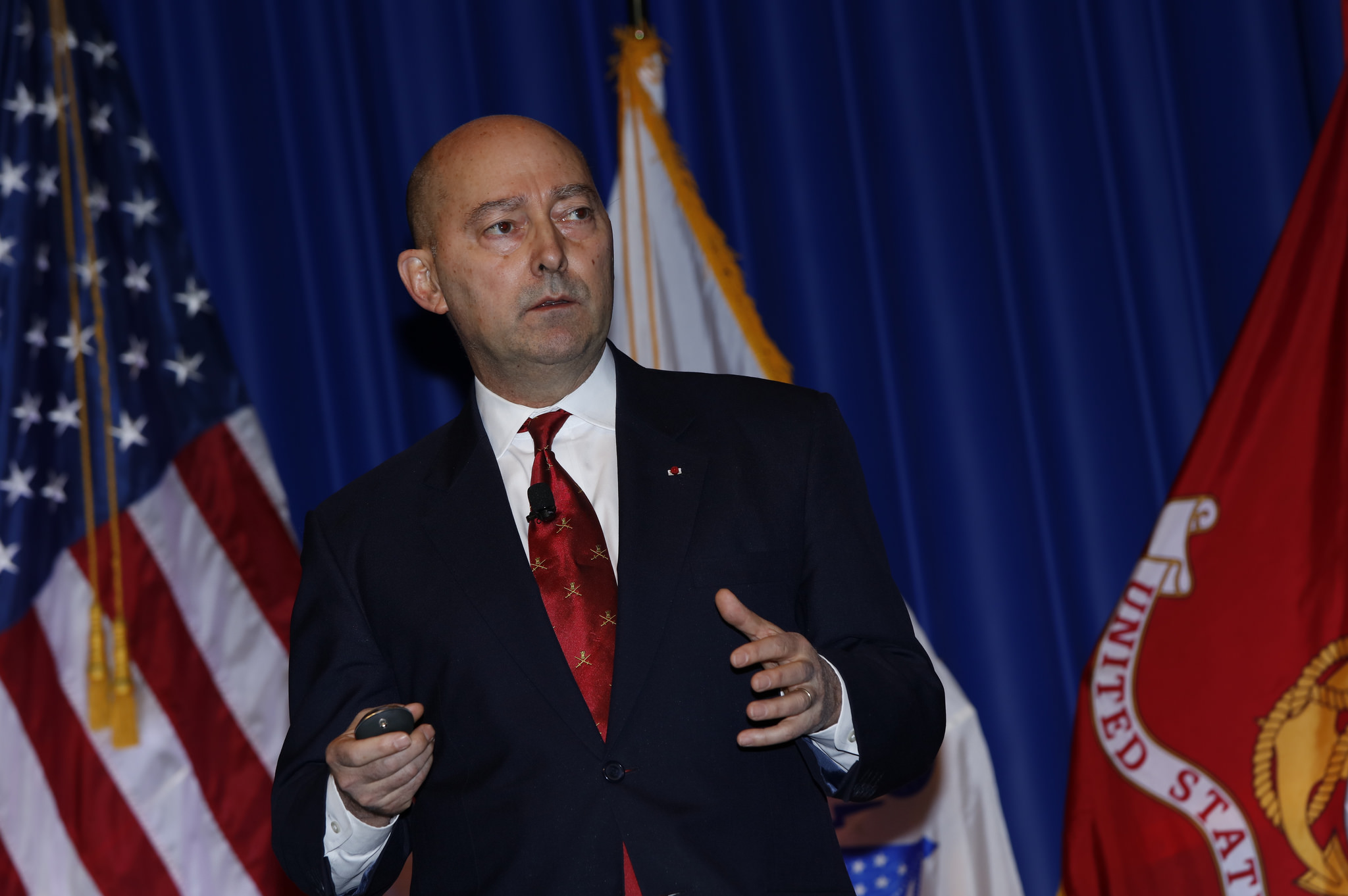 Former NATO commander James Stavridis speaking at West 2016 on Feb. 18, 2016. U.S. Naval Institute Photo