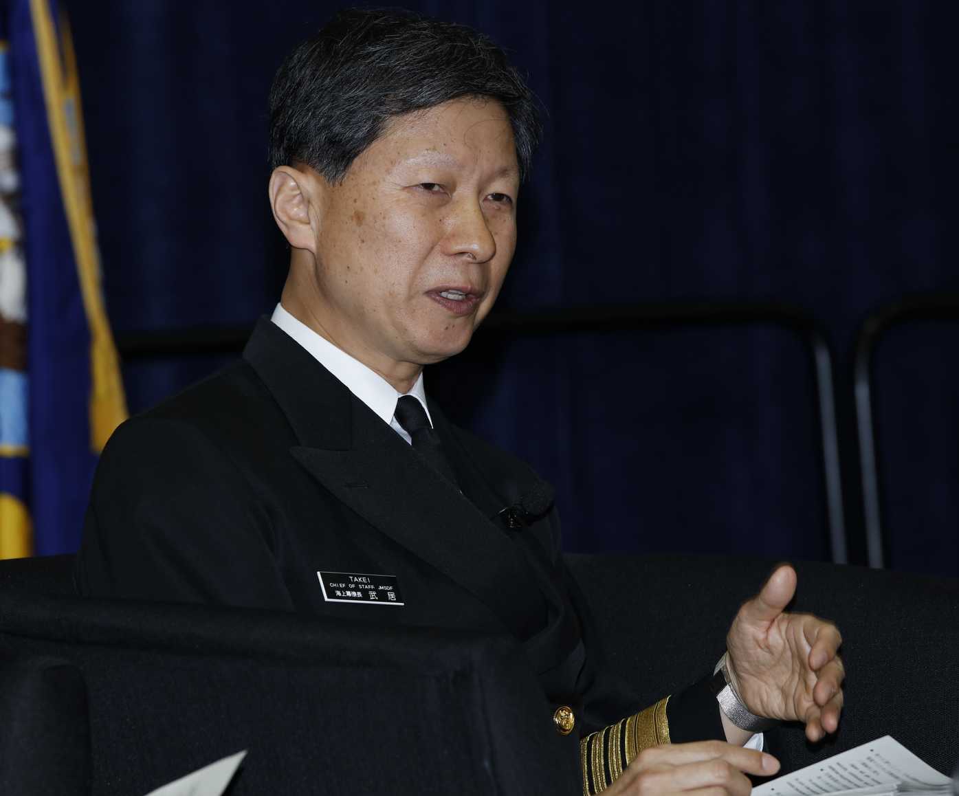 Adm. Tomohisa Takei, chief of staff of the Japan Maritime Self-Defense Force, on Feb. 18, 2016. US Naval Institute Photo