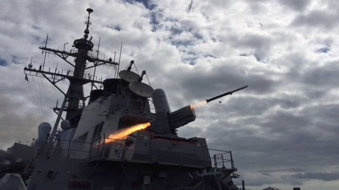 Navy Successfully Completes First Live Fire Test Of SeaRAM From Destroyer