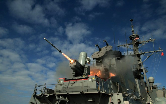Video: Live Fire Test of SeaRAM From USS Porter