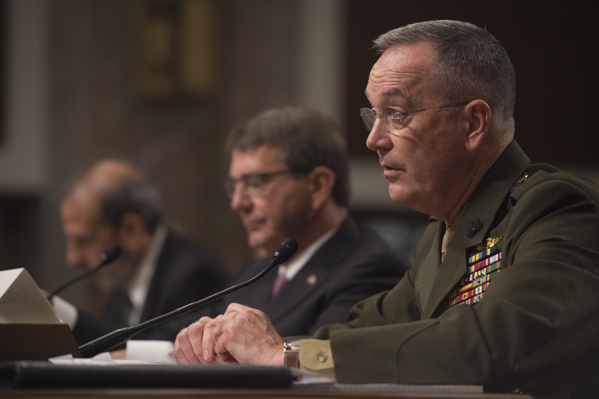 Gen. Joseph Dunford testifying before Congress on March 17, 2016. DoD Photo