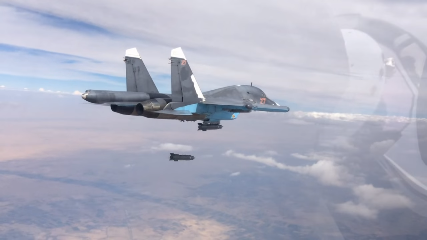 A Russian strike aircraft operating over Syria. Russian Defense Ministry Photo
