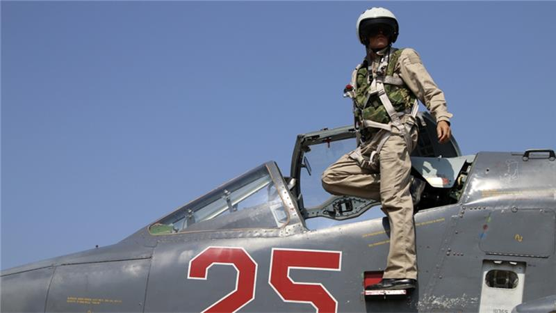 Russian pilot in Syria.