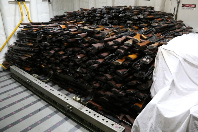 U.S. Navy Seizes Suspected Iranian Arms Shipment Bound for Yemen