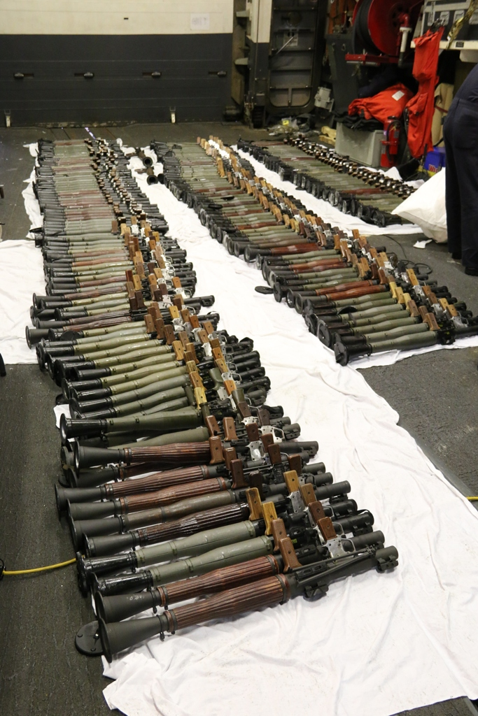 200 RPG launchers as part of the seizure. US Navy Photo