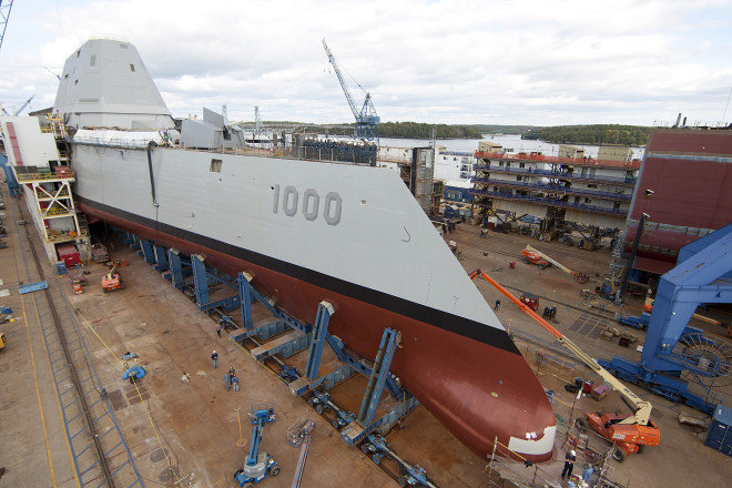 Navy Requires $450 Million More to Complete Zumwalt-Class Due to Shipyard Performance