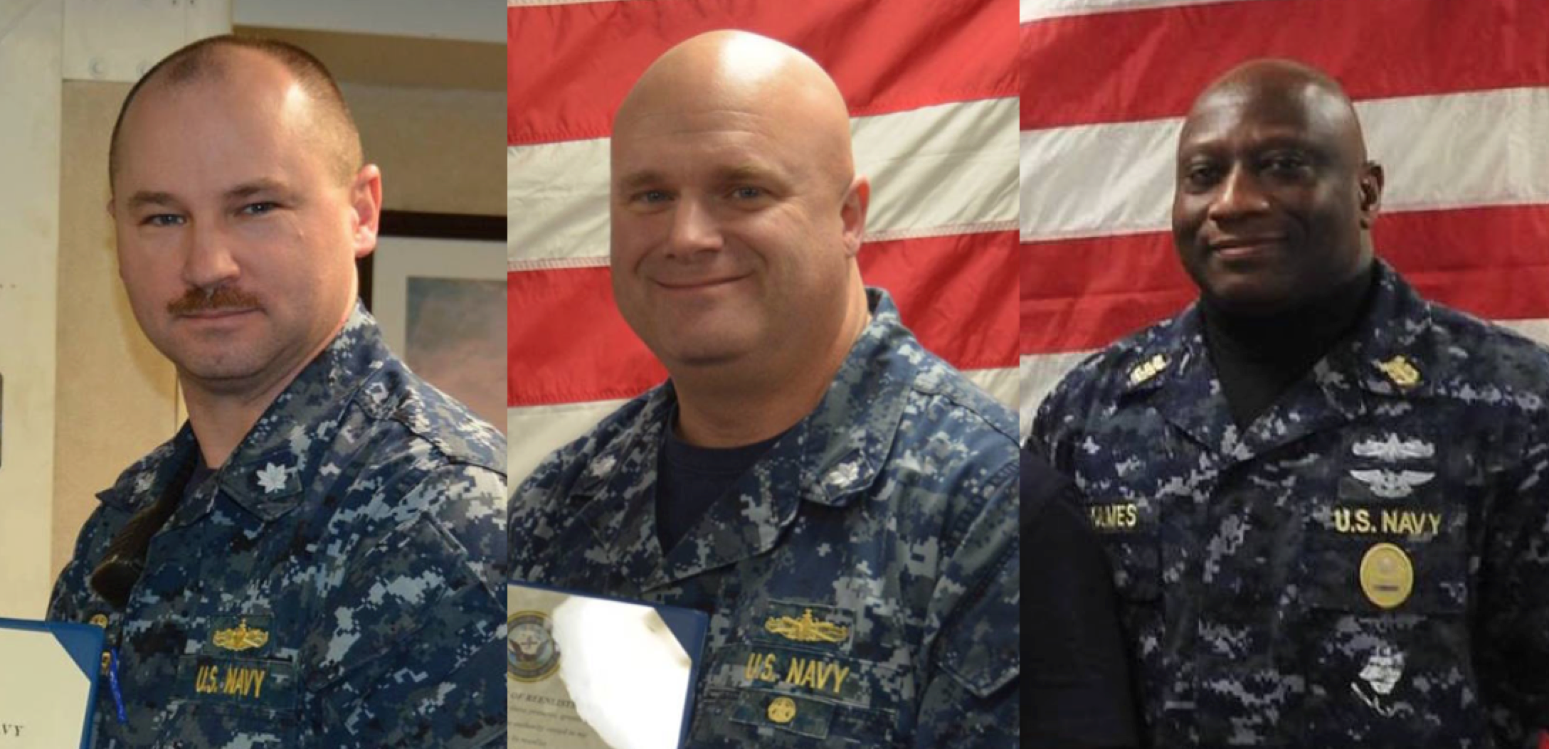 Former Bainbridge CO Cmdr. Sean Ronger, XO Cmdr. Brandon Murray and CMC Richard Holmes were releieved from their roles on the ship on April 8, 2016, sources tell USNI News