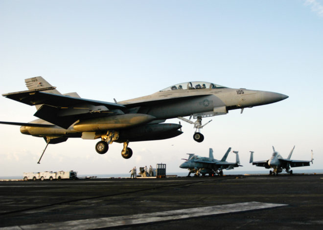 UPDATED: Two Navy F/A-18F Super Hornets Crash Off North Carolina, Air Crew Suffered Only Minor Injures