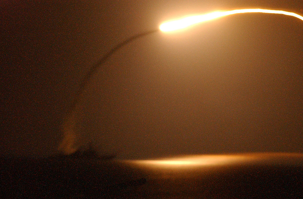 1024px-US_Navy_030327-N-9964S-519_The_guided_missile_destroyer_USS_Winston_S._Churchill_(DDG_81)_launches_a_Tomahawk_Land_Attack_Missile_(TLAM)_toward_Iraq