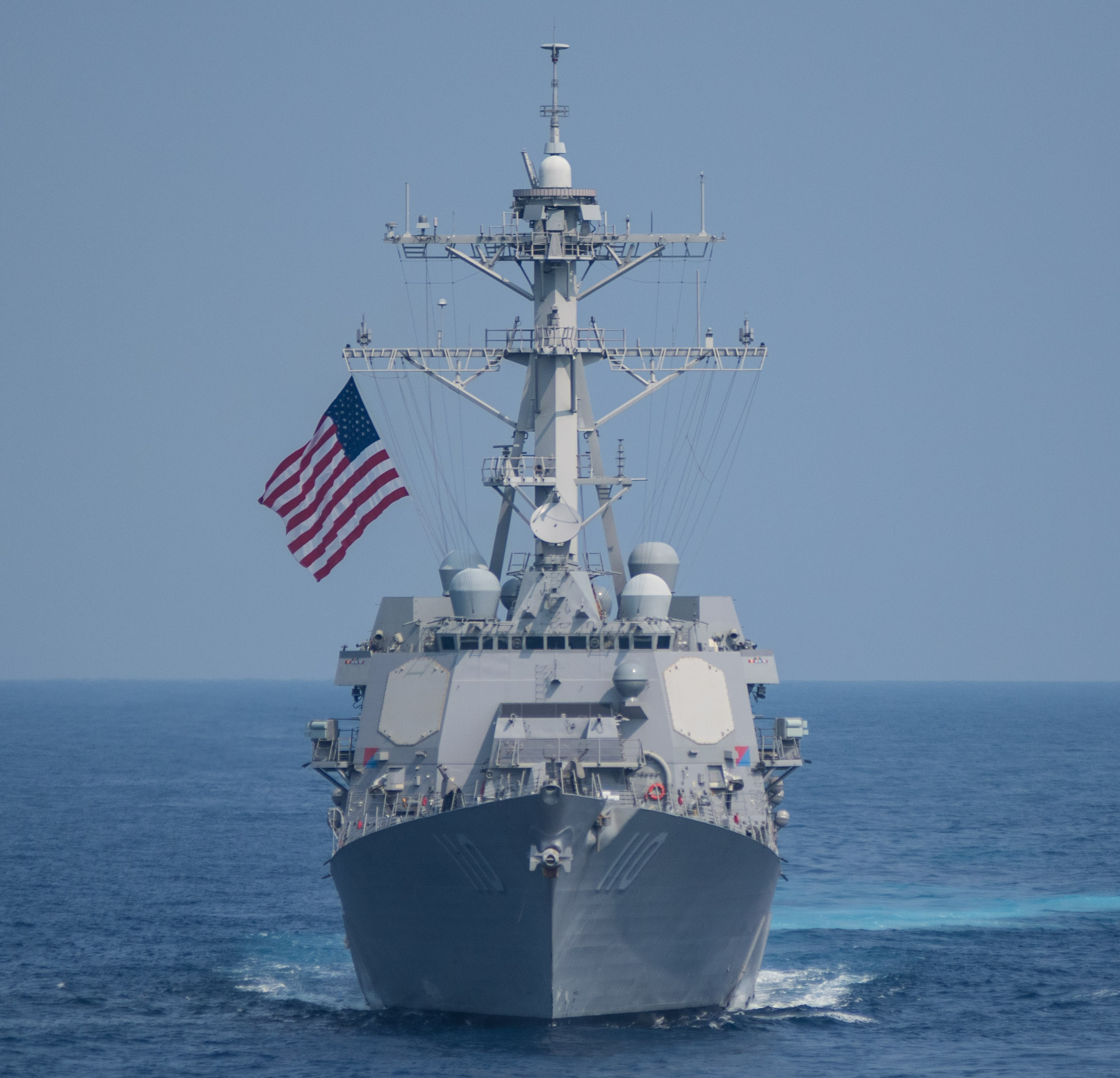 USS William P. Lawrence (DDG-110) transits the Philippine Sea on March 30, 2016. US Navy Photo