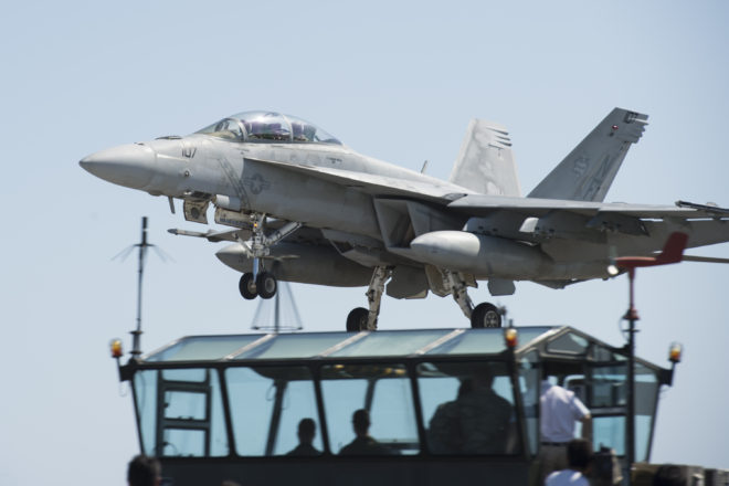 Navy Lays Bare F/A-18 Readiness Gaps, Could Take Year to Surge Air Wing