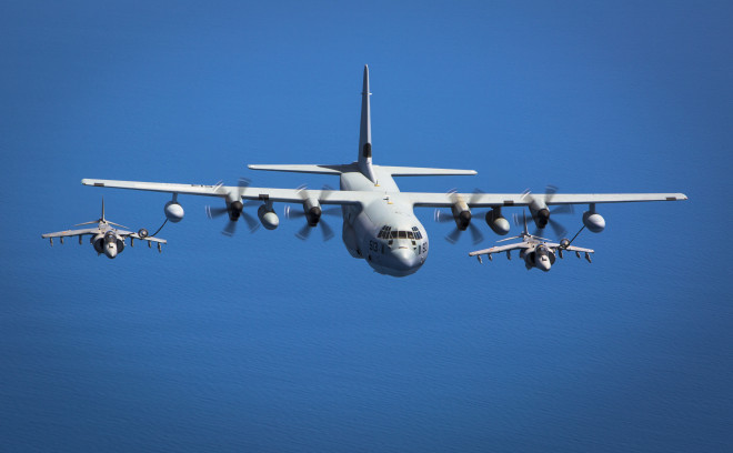 Marines To Add 'Harvest Hawk' Weapons Kit to Entire C-130J, V-22 Fleets