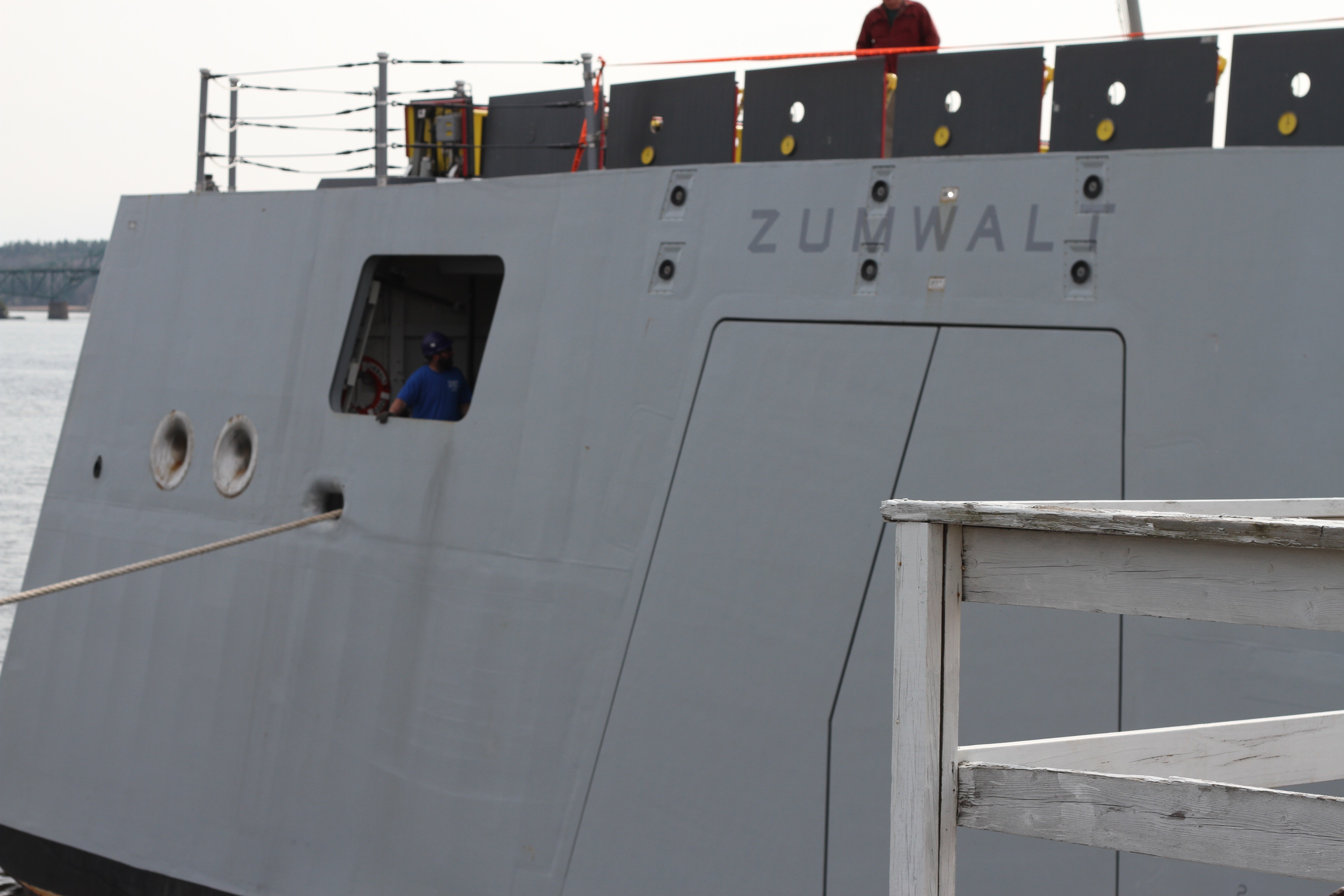 One of Zumwalt's aft mooring stations on May 13, 2016. USNI News Photo