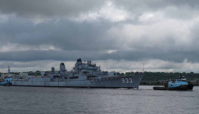 Video: Destroyer Barry Towed From Washington Navy Yard