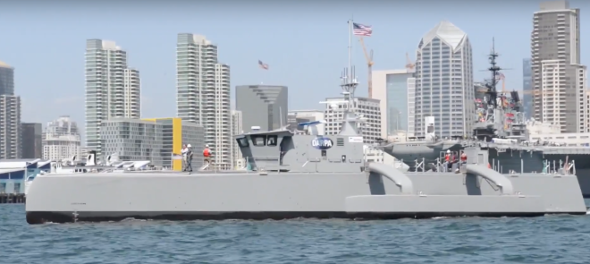 Video: Navy's Unmanned Sea Hunter Arrives in San Diego