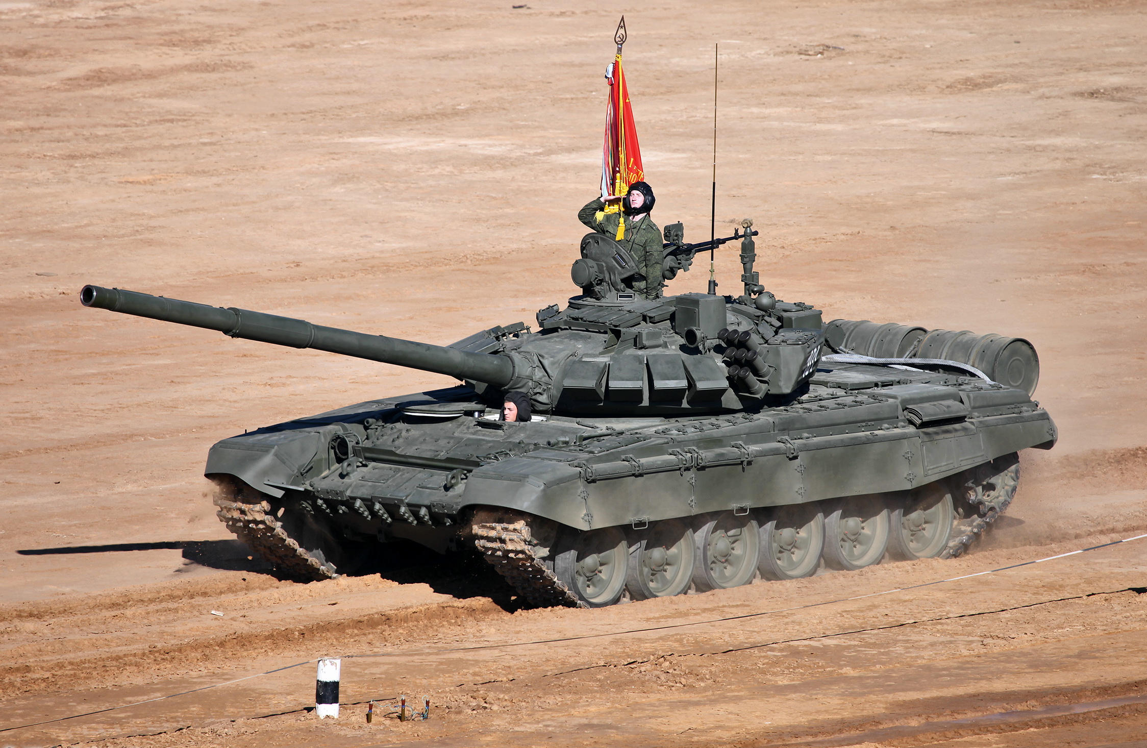 Russian T-72B Main Battle Tank in 2013. Russian Ministry of Defence Photo