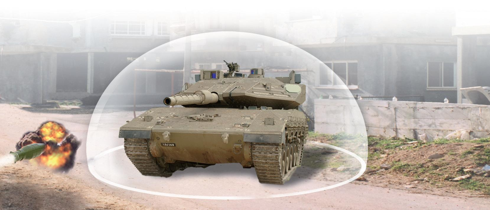 A graphic showing the Trophy active protection system for ground vehicles. Israel Defense Forces image.
