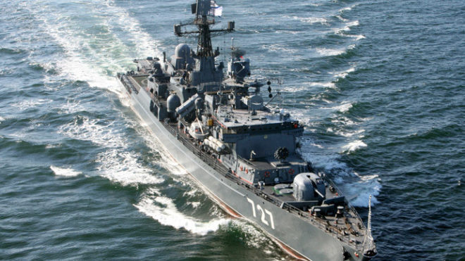 Russian Frigate Again Harasses U.S. Carrier Strike Group During Flight Operations