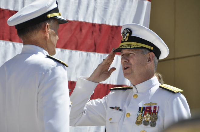 Vice Adm. Moore Takes Command of Naval Sea Systems Command; Hilarides Retires