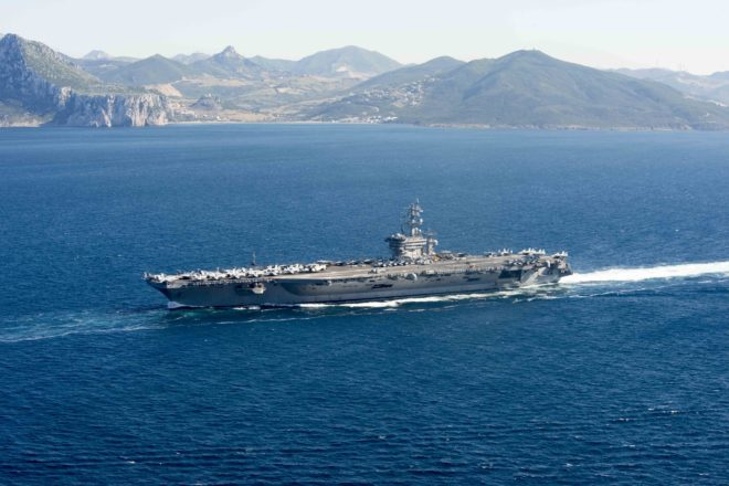 Video: Eisenhower Carrier Strike Group Enters Mediterranean, Will Continue Great Green Fleet Ops