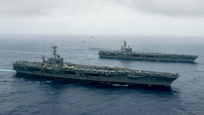 Video: Reagan, Stennis CSGs Practice 'High-End Warfighting' In Philippine Sea